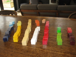 Home-made wooden cubes